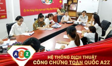 Dịch thuật công chứng huyện Mê Linh