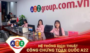 Dịch thuật công chứng huyện Triệu Sơn