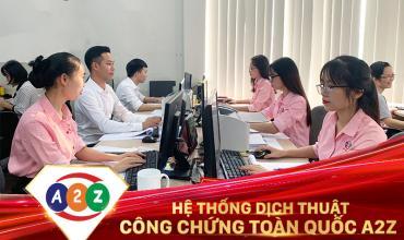 Dịch thuật công chứng quận Tân Phú