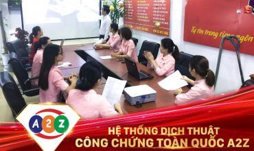 Dịch thuật công chứng huyện Bình Lục