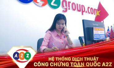 Dịch thuật công chứng huyện Thanh Sơn