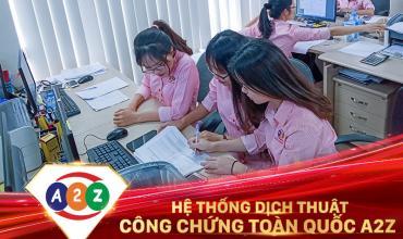 Dịch thuật công chứng huyện Yên Lập