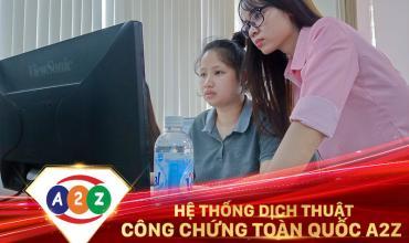 Dịch thuật công chứng huyện Cẩm Khê