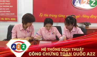 Dịch thuật công chứng huyện Trà Bồng
